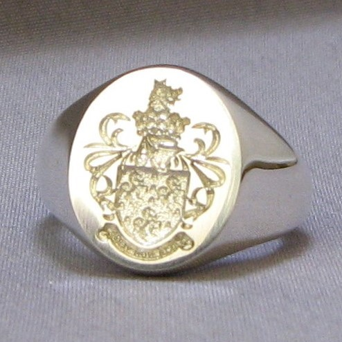 coat of arms seal engraved silver signet rings
