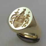 coat of arms signet ring silver 925